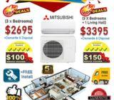 CRAZY Deals - BRANDED Inverter Air-Con SALE + FREE $150 SERVICE VOUCHER