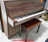 YAMAHA LU101 used piano, wood color, used 15 years 0103