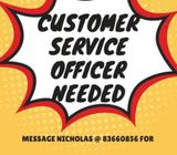 Customer Service Officer | $2000/month | 1 year contract
