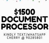 $1500 DOCUMENT HANDLER @ BOON LAY