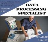 Data Processing Specialist (Boon lay | $1600 | Entry-level)