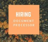 Hiring Document processor!No experience needed!