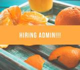 Hiring temporary admin!!Apply Now!