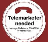 Telemarketer needed | $8/hr | 6 months contract