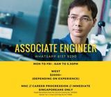 ASSOCIATE ENGINEER @ WEST (UP TO $2400 +/- // MNC // IMMEDIATE)
