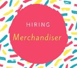 Hiring temporary merchandiser!