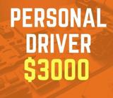 $3000 Personal Driver (West Area / Great Benefits)