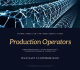 10 x Production Operators @ West (Transport Provided, MNC, AWS, AM or PM)