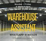 Warehouse Assistant (Perm | Boon Lay | $2400)
