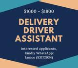 UP TO $1800 | DELIVERY DRIVER ASSISTANT