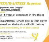 Waiter/Waitress Needed