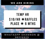 TEMP HR  $10/HR  6 MTHS