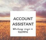 Accounts Assistant ($3000, 3 months, Raffles Place)