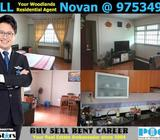 HDB 4A Admiralty Blk 739 Woodlands Circle 4-Room Advance