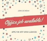 OFFICE JOB (DOCUMENT PROCESSOR) x20 // UP TO $1500 // BOON LAY