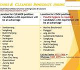 COOK and CLEANER for Childcare Center