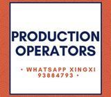 PRODUCTION OPERATORS // $88 - $110 per day // Taiseng, 1 year