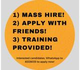 PRIMARY SCH RESEARCH ASSISTANTS ($12/HR!! / GOVT PROJECT)