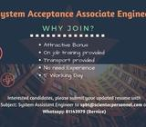 System Acceptance Associate Engineer ( Yishun/ Up to $2400/ 6-12 months contract)