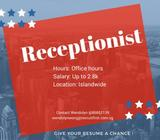 Receptionist (6 months - 1 years) // Up to $2.8k