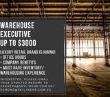 WAREHOUSE EXECUTIVE | UP TO $3000