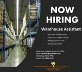 Warehouse Assistant (Tuas)