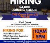 Port Operator, Prime movers and Lashing Specialist Needed