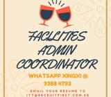 FACILITIES ADMIN COORDINATOR ($2700 | RAFFLES PLACE | 1 YEAR CONTRACT)