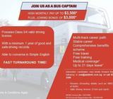 Bus Captain (Up to $3,500)