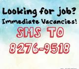 Temp Counter Service Assistants (Government) *INTERVIEW TOMORROW*