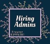 Hiring Many Admins!!!! Up to $1.6k!!