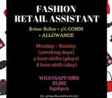 RETAIL ASSISTANT (5 DAYS WORK) // No Experience needed // Training provided //