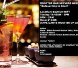 BAR ASSISTANTS/BAR SERVERS NEEDED @ MBS ROOFTOP BAR!! $10/Hour
