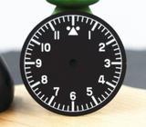 Seiko 28.5mm Matt Black Dial BGW9 Lume Applied Indices Pilot Flieger Aviator Watch Mod Part