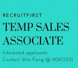 *URGENT* // Temp Sales Associate needed! // West //