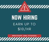 MASS HIRING!! $10/HR Multiple postions available!!