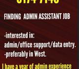 Finding Admin/Data Entry FT Job