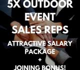 OUTDOOR EVENTS SALES REP (ATTRACTIVE SALARY PACKAGE + JOINING BONUS)