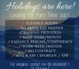 Part Time Vacancies Available!! Apply Now!!!
