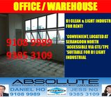 RENT! B1 Light Industrial / Office Warehouse / Serangoon / Ang Mo Kio