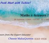 1-to-1/ Small Group Private Maths & Sciences Tuition by Expert