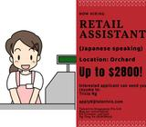 IMMEDIATE VACANCIES!!!! Up to $2.8K [Japanese Speaking] RETAIL ASSISTANT