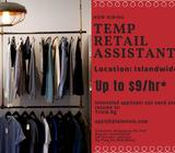 Islandwide~ High Fashion Retail Assistant up to $9/hour
