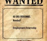80 ORD Personnel required