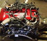 JDM NISSAN SKYLINE GTR RB26DETT R34 ENGINE WITH 6 SPEED GETRAG MT TRANSMISSION
