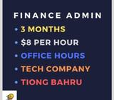 >> $8/H Office Admin Job << 3 Months commitment
