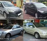MPV rental, Car leasing, Van rental - call 62850020
