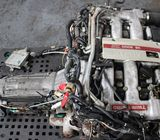 JDM VG30DETT TWIN TURBO 90-95 NISSAN 300ZX Z32 FAIRLADY ENGINE 5 SPEED TRANS ECU