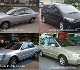 Monthly Car Rental, MPV leasing, Van Rental - call 91018983