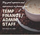 Temp Finance/Admin Staff NEEDED!// Famous insurance firm! *Great exposure and experience*